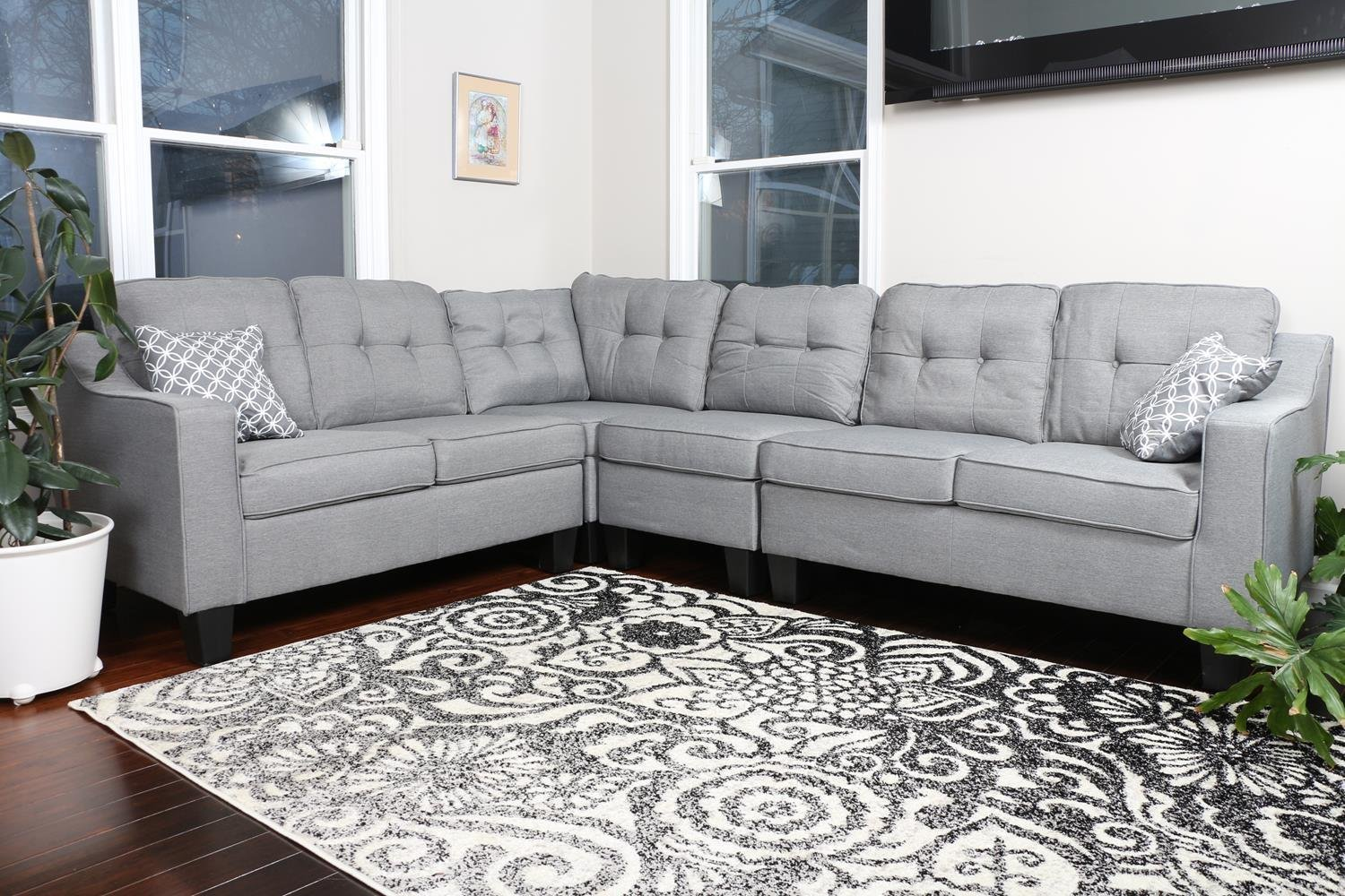 Large Light Grey Quality Sectional 106″ X 825″ X 34. Modern Dining Room Lighting. Home Decoration Stores. Gray Living Room Furniture. Decorative Outdoor Flags. Ideas For Living Room Decoration Modern. Work Office Decor. Classroom Decorations For Teachers. Yard And Garden Decor