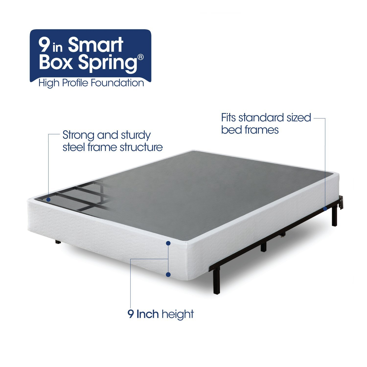 9 inch high profile smart box spring twin rochester for High mattress box spring