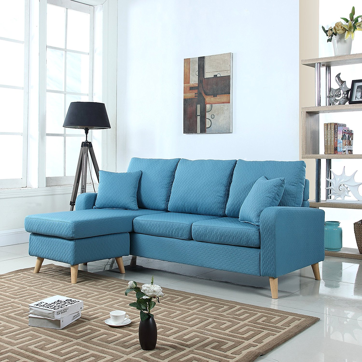 skybluesectional5 : blue sectional sofa with chaise - Sectionals, Sofas & Couches