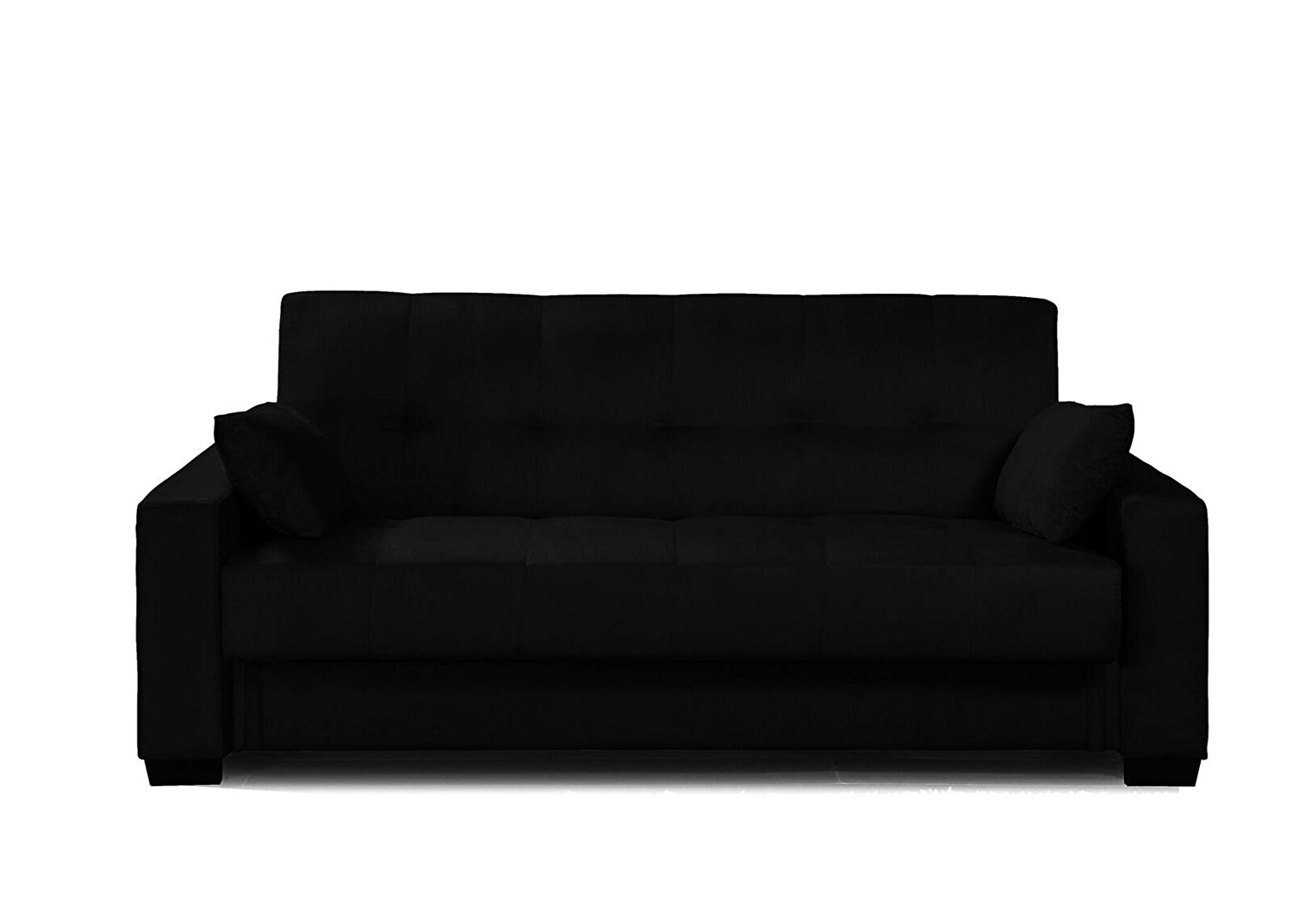 Microfiber Sofa Sleeper Bed Lounger With Storage Black Discount Furniture Warehouse