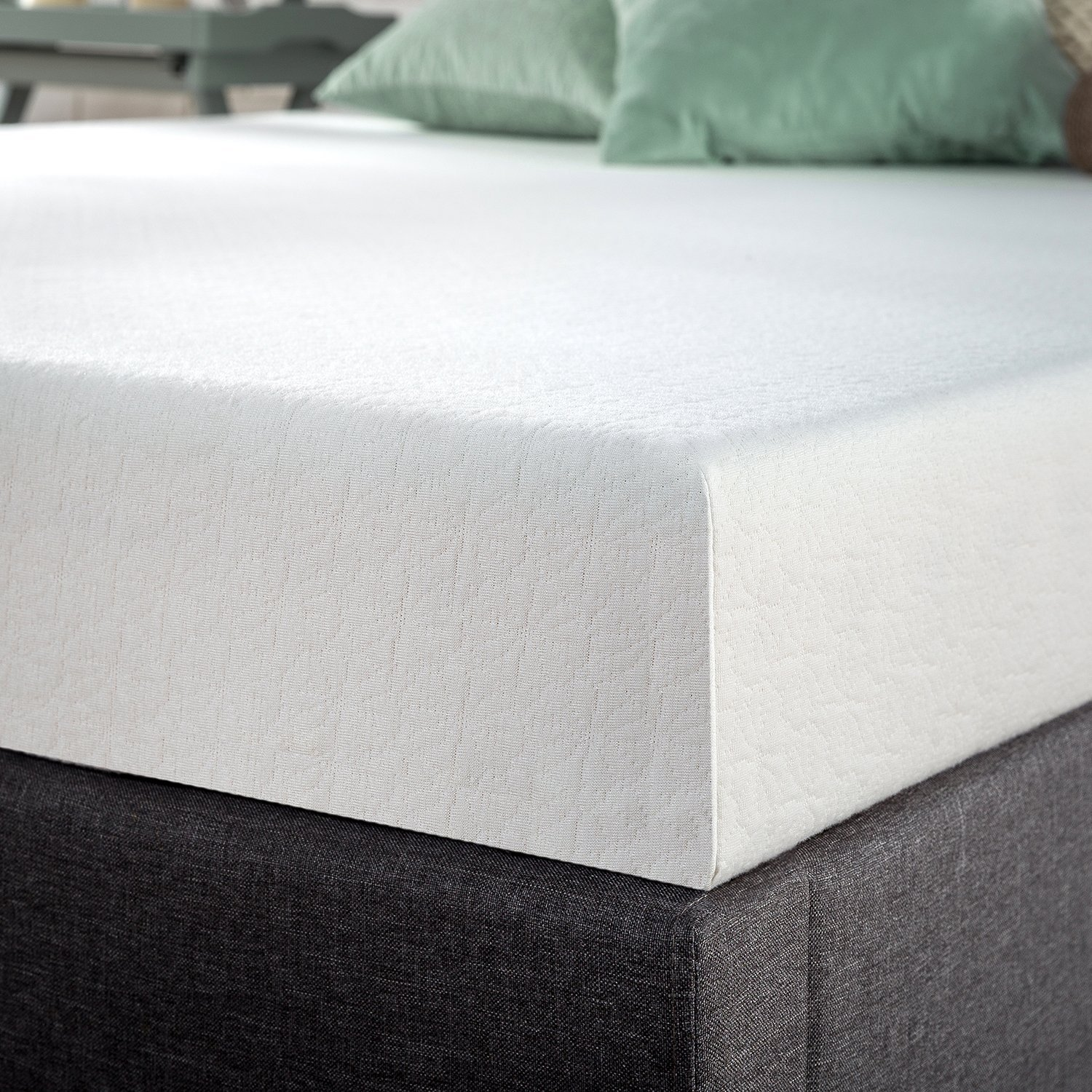 Premium Green Tea Memory Foam Mattress Set Foundation