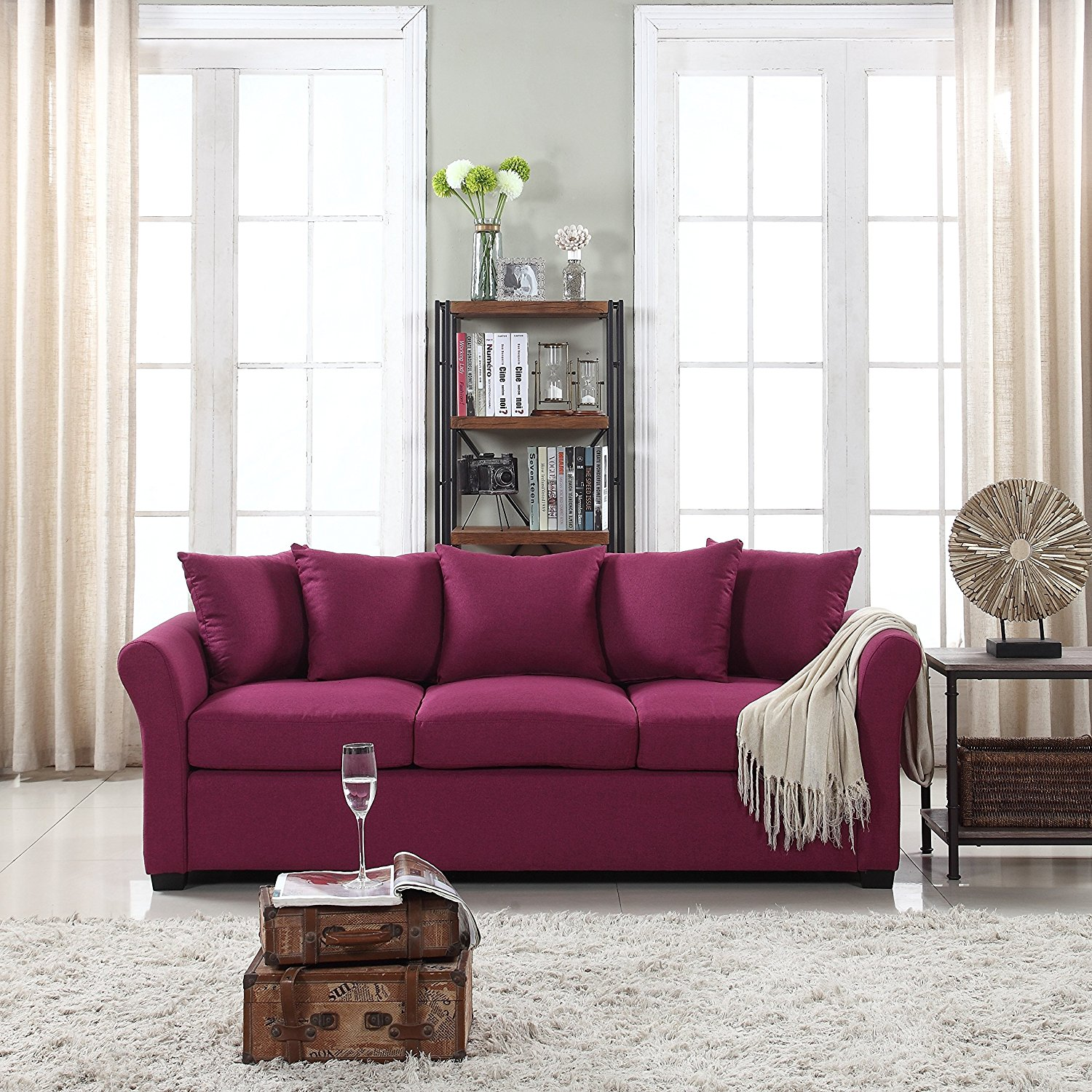 Classic and traditional ultra comfortable linen fabric - Cheap comfortable living room chairs ...