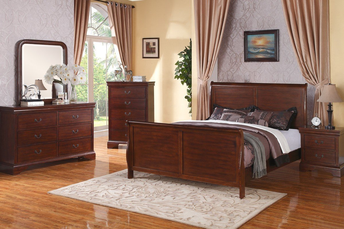 french style modern cherry queensized bed rochester 15928 | pxf9232 bedroom set 29445 1461186274 1280 1280