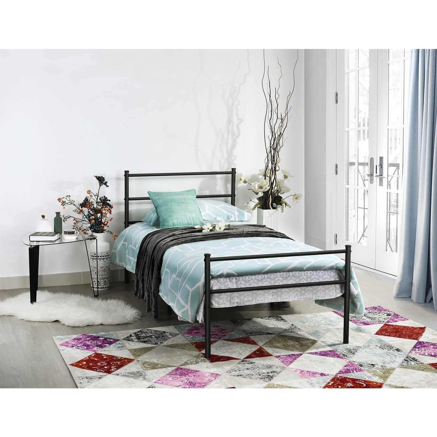 Metal Bed Frame Twin Mattress Set, Bed & Mattress (Weekly Special ...