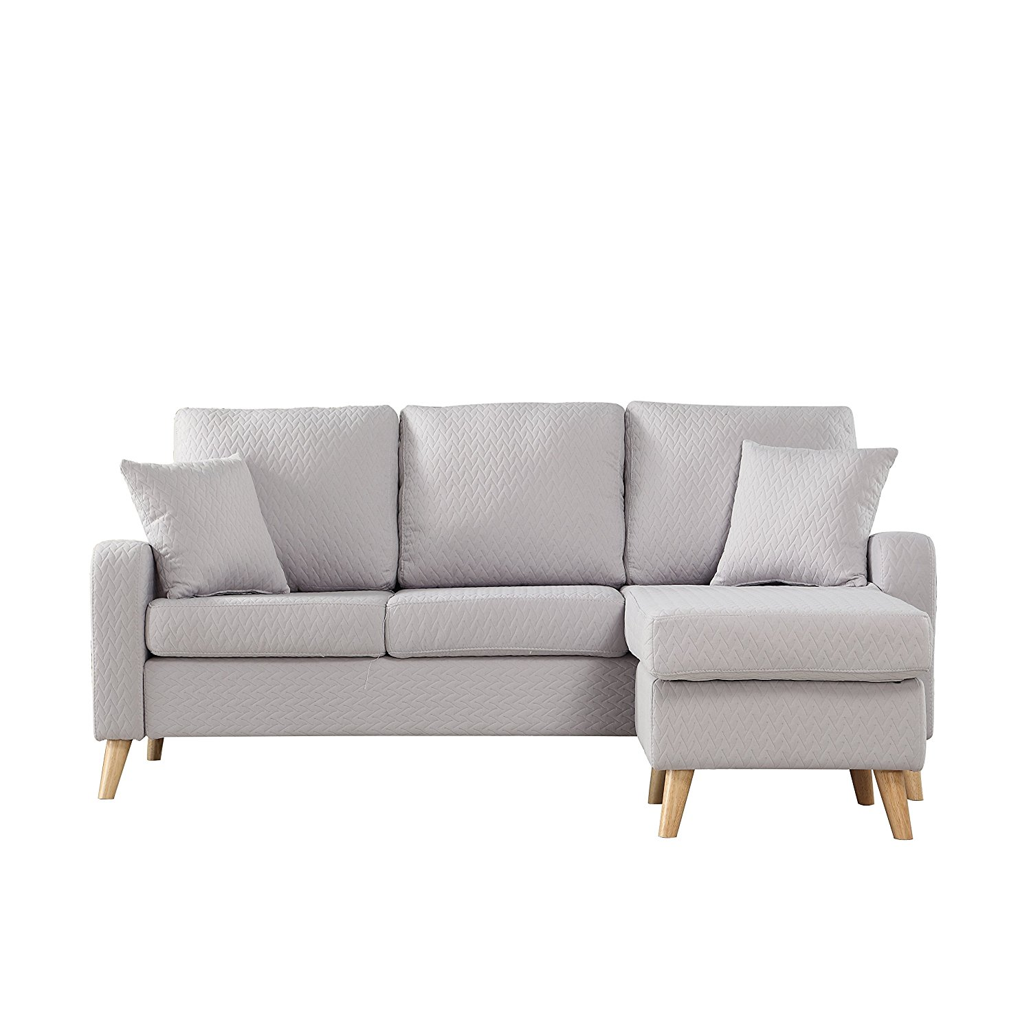 sectional sofa with reversible chaise ten colors