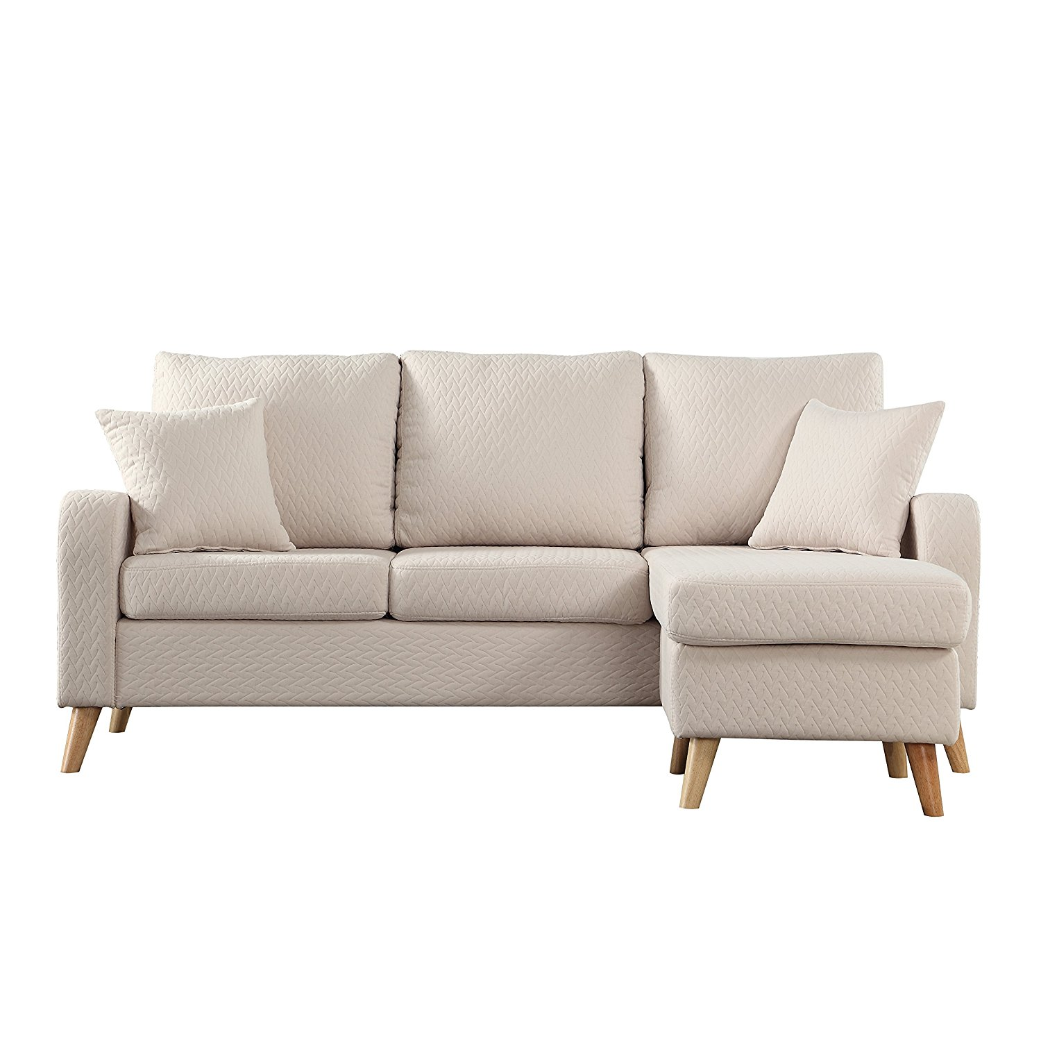 Modern Design Sectional Sofa With Reversible Chaise + 10