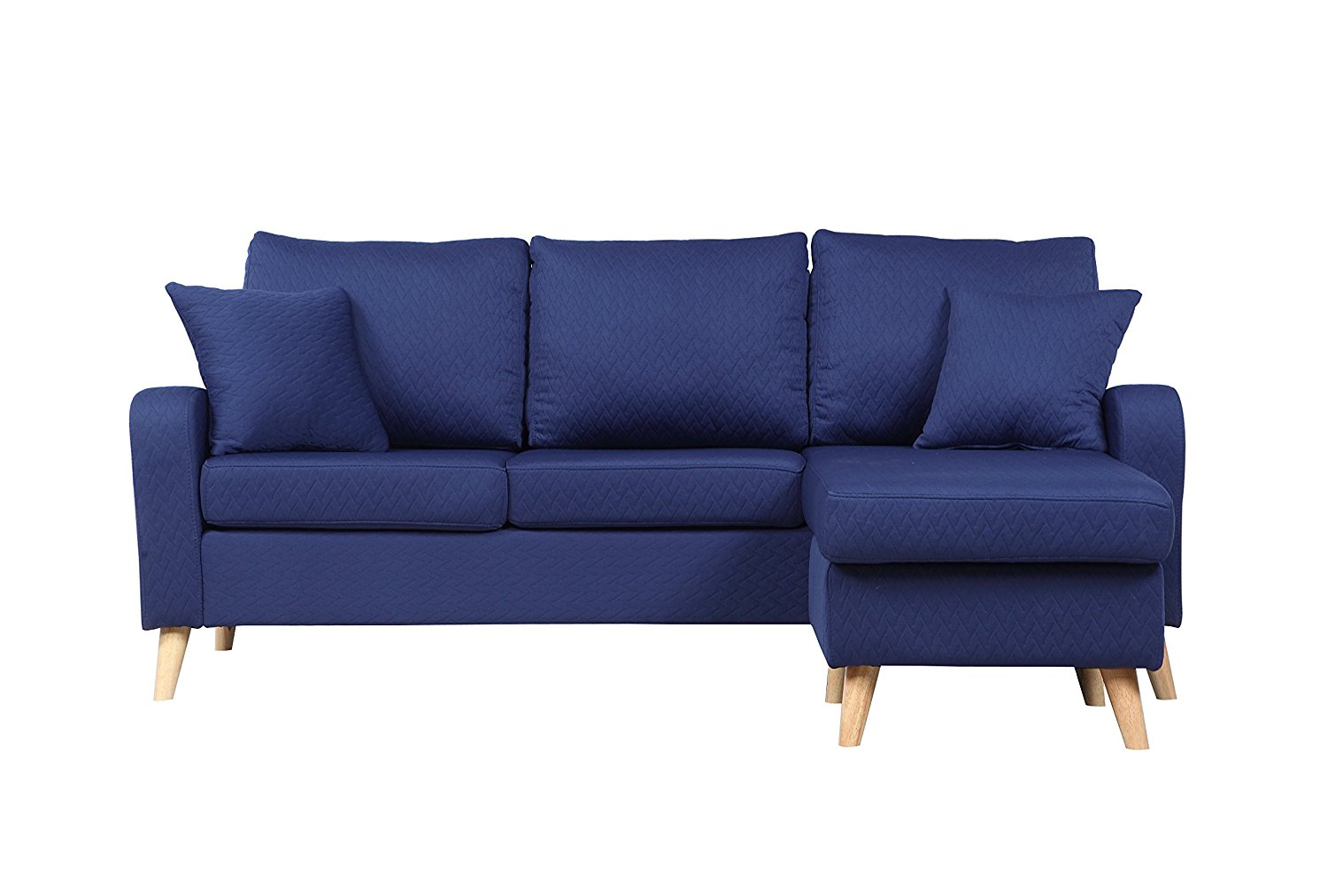 Modern design sectional Sofa with Reversible Chaise + 10 Colors