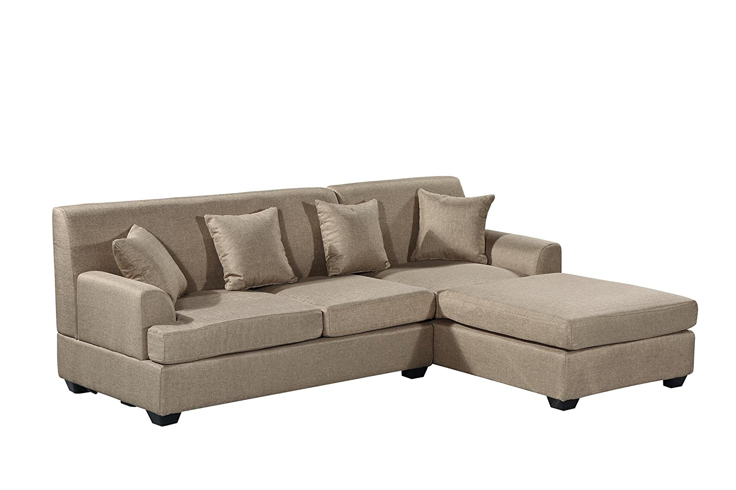 Large Tan Quality Sectional 92 X 65 X 32 5 Rochester