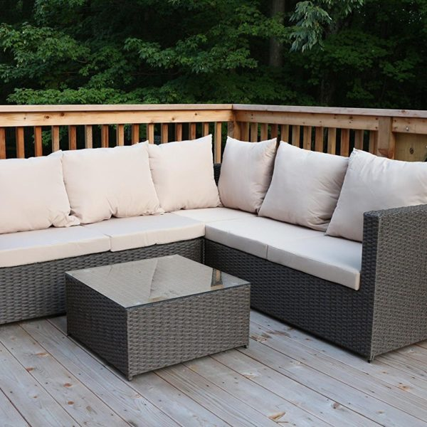 Outdoor Rattan Sectional Sofa Set Outdoor Patio Furniture - Fully ...