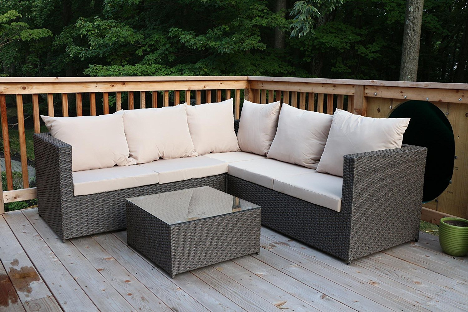 Outdoor Rattan Sectional Sofa Set Outdoor Patio Furniture