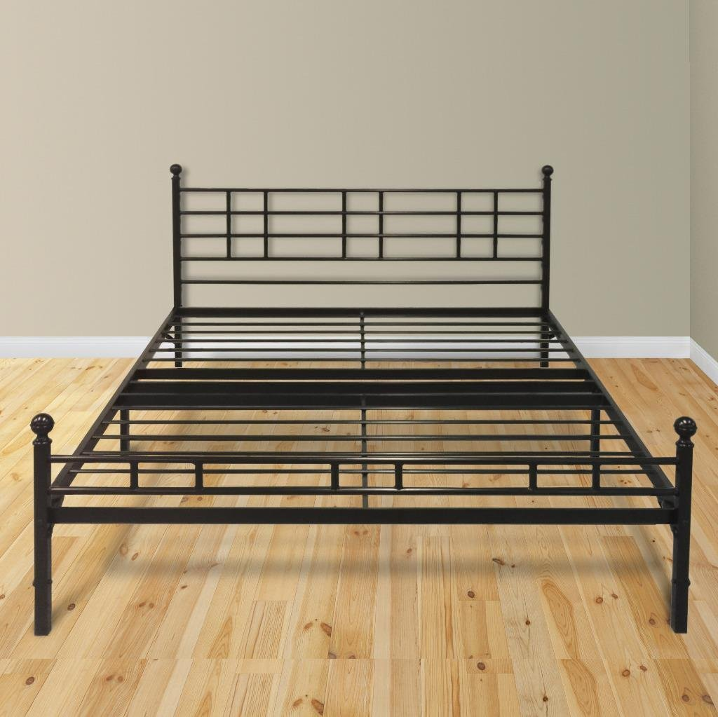 Modern Easy Set Up Steel Platform Bed Steel Bed Frame
