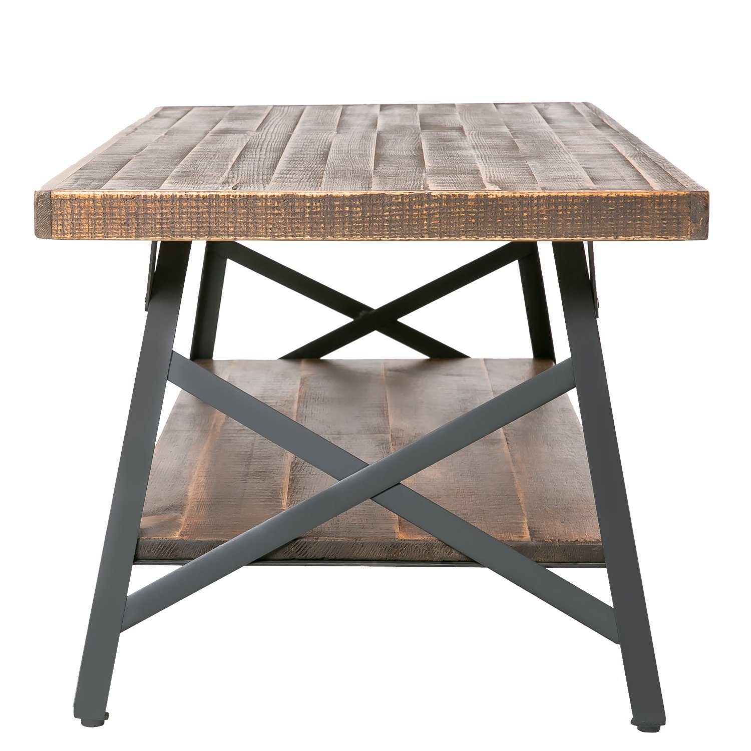 Coffee Tables And End Tables Sets Rustic End Tables: Rustic Wood Coffee Table With Metal Legs, End Table/Living