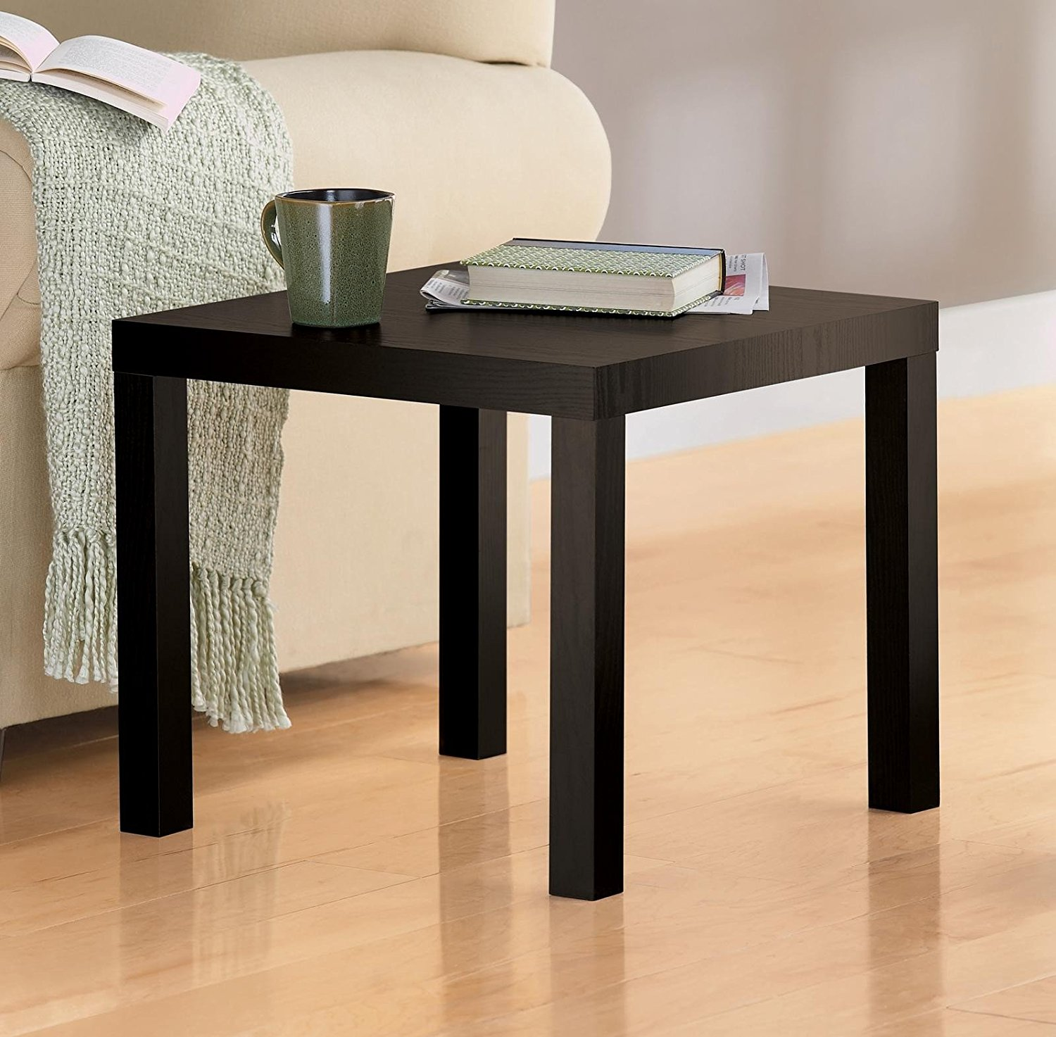 Modern End Table Multi Use And Toolless Assembly 4