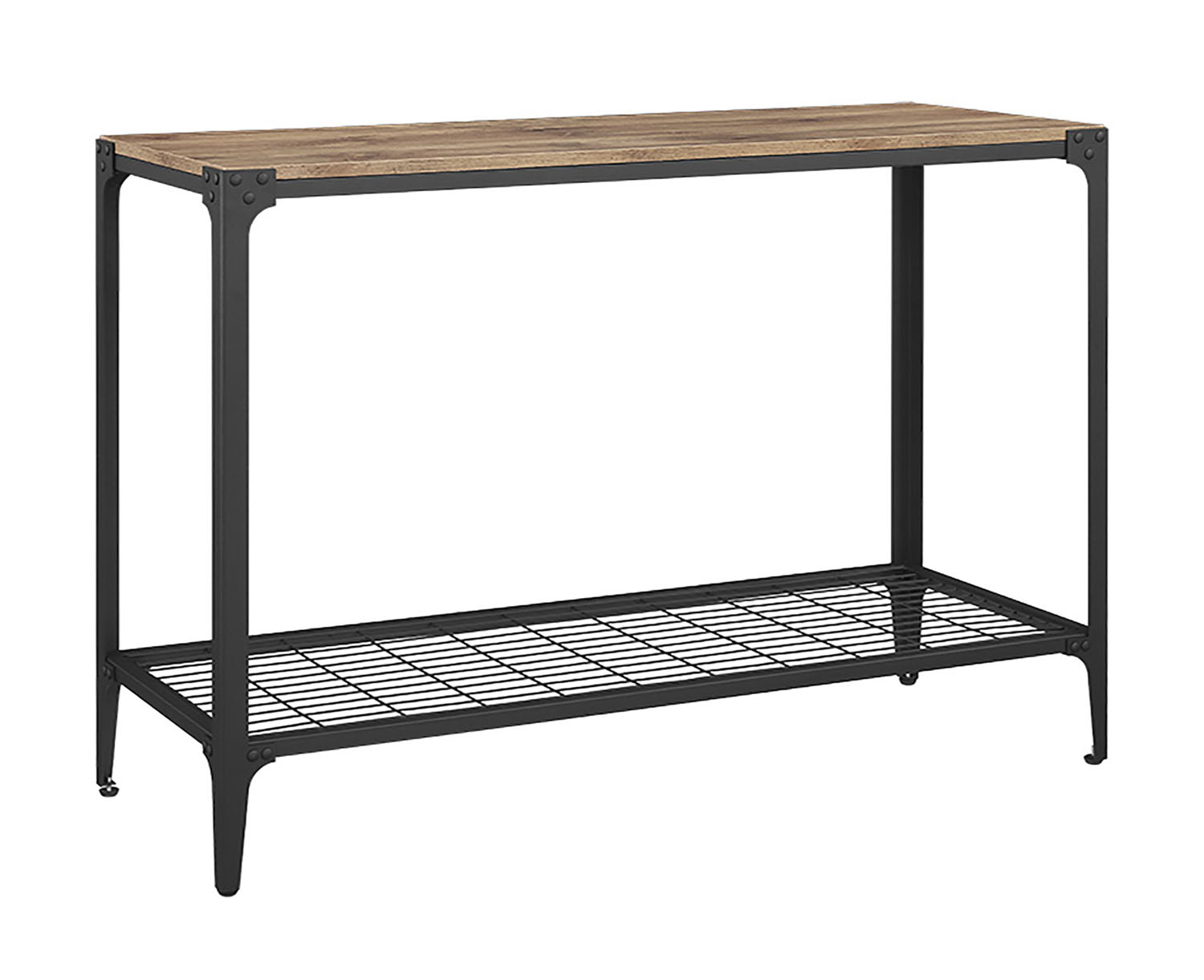 Angle Iron Rustic Wood Sofa Entry Table Barnwood