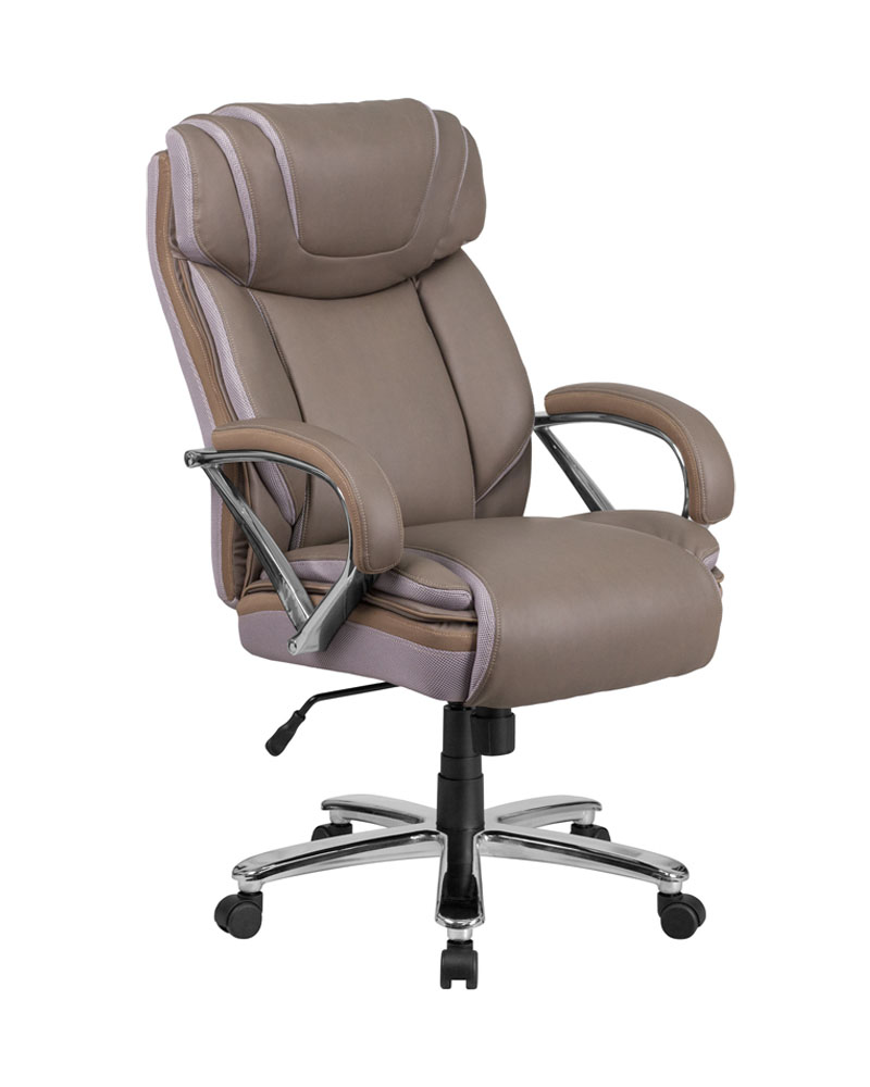 Flash Furniture Hercules Series 500 Lb Capacity Big Tall Taupe Leather Executive Swivel Office Chair With Extra Wide Seat Rochester Overstock Discount Furniture