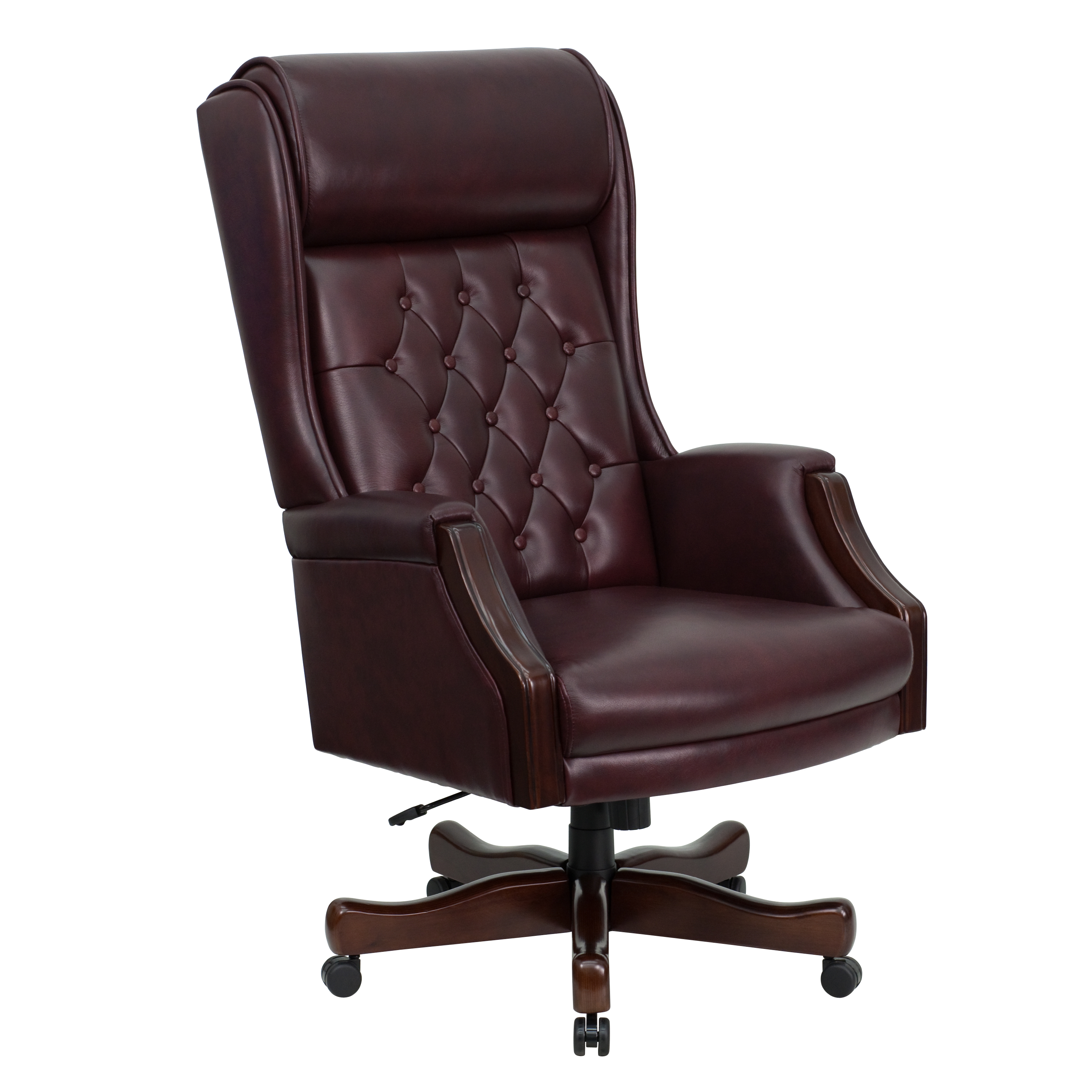 Outstanding High Back Traditional Tufted Leather Executive Swivel Office Chair Caraccident5 Cool Chair Designs And Ideas Caraccident5Info
